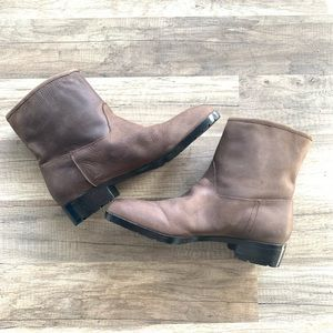 GAP | leather moto boots